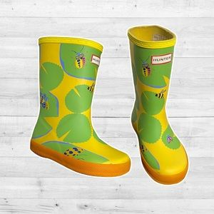 Girls' Original First Classic Lily Pad Print Waterproof Rain Boots (Toddler)